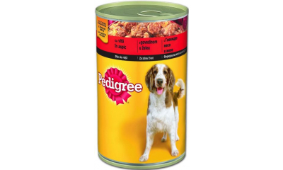 Pedigree konz. 400g adult marhás